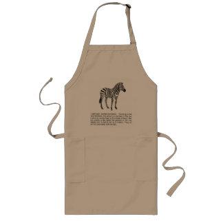 zebra long apron