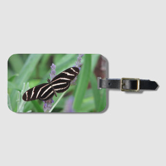 Zebra Longwing Butterfly luggage tag