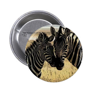 ZEBRA LOVE 6 CM ROUND BADGE