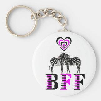 Zebra Love - BFF Key Ring