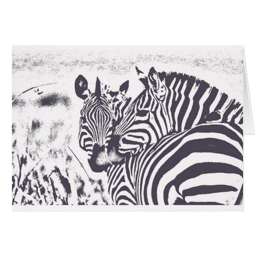 Zebra Love Greeting Cards