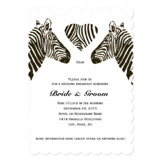 Zebra Wedding Invitations Amp Announcements