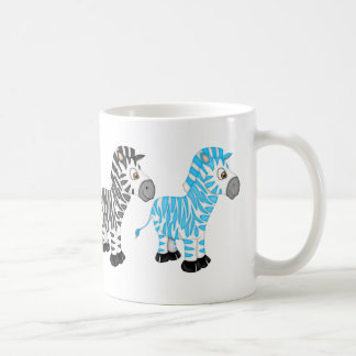 Zebra Lovers fun cartoon coffee mug