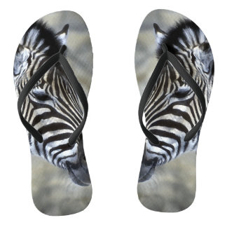 Zebra Lovers Stripes Thongs