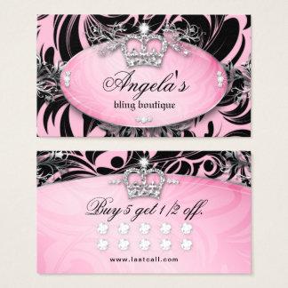Zebra Loyalty Card Jewellery Crown Pink