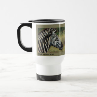 Zebra Metal Travel Mug