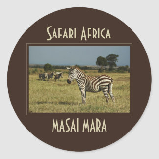 Zebra migration wildlife safari stickers