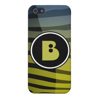 Zebra Monogram Letter B i iPhone 5/5S Case
