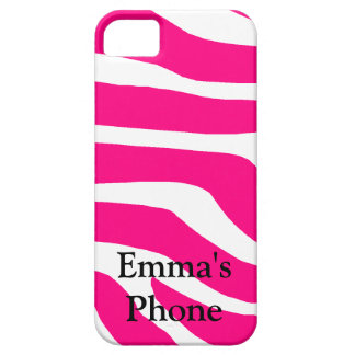 Zebra Monogrammed Name iPhone 5 Cases