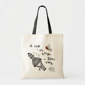 Zebra needs Coffee Tote bag