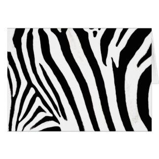 zebra notecard greeting card