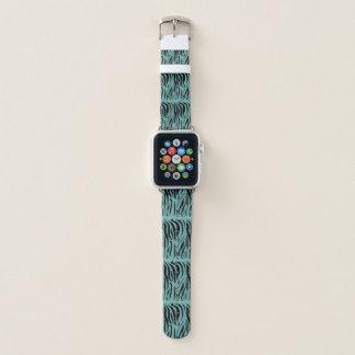 Zebra on Teal Apple Watch Band