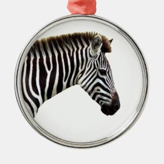zebra-on-the-masai-mara metal ornament