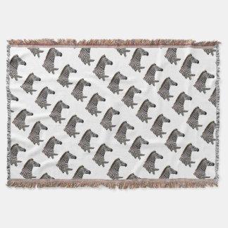 zebra-on-the-masai-mara throw blanket