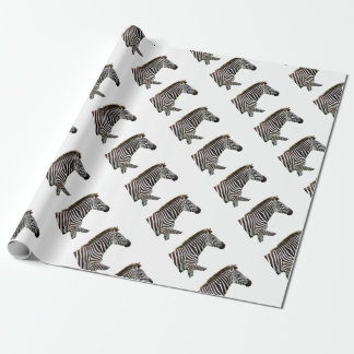 zebra-on-the-masai-mara wrapping paper