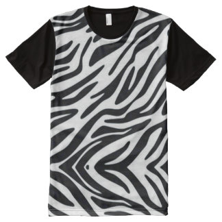 Zebra One Classic Animal Print All-Over Print T-Shirt