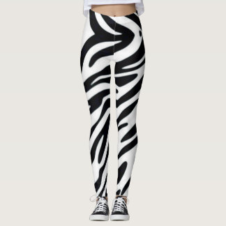 Zebra One Classic Animal Print Fashion Leggings