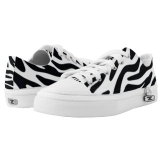 Zebra One Custom Zipz Low Top Kickers