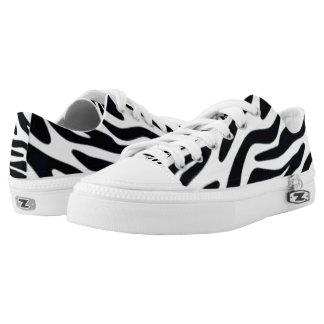 Zebra One Custom Zipz Low Top Kickers Printed Shoes