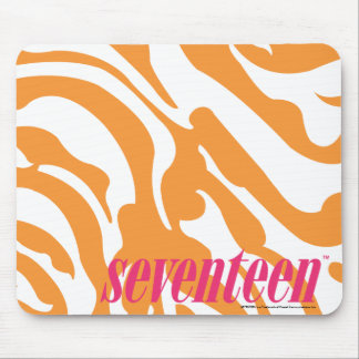 Zebra Orange Mouse Pad