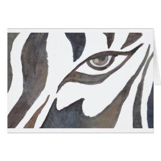 zebra painting.jpg greeting card