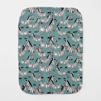 Zebra Pattern Baby Burp Cloth