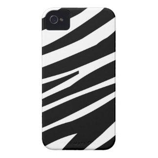 Zebra Pattern Black White Blackberry Cases