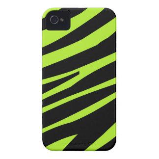 Zebra Pattern Lime Green Blackberry Case-mate Case-Mate iPhone 4 Case
