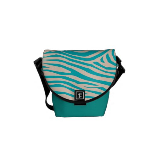 Zebra Pattern Courier Bag