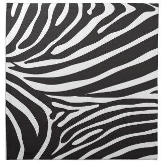 Zebra pattern, modern zebra print black and white napkin