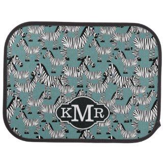Zebra Pattern | Monogram Car Mat