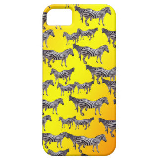 Zebra Pattern On Golden Yellow, Case For The iPhone 5