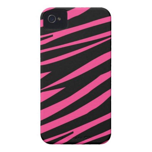 Zebra Pattern Pink Black Case-Mate Blackberry Case-Mate Blackberry Case
