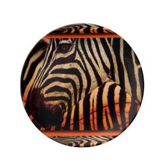 Zebra & Pattern Print Design Plate