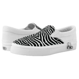 Zebra Pattern Slip On Shoes