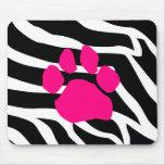 Zebra Paw Print Mousepads