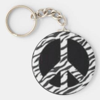 zebra peace key ring