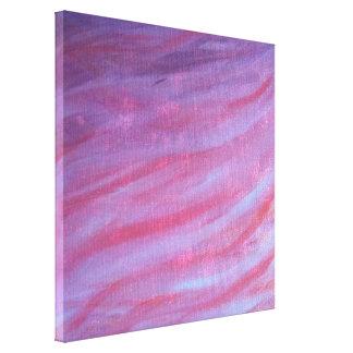 Zebra | Pink Purple Cute Feminine Girly Pastel Canvas Print