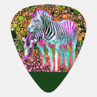 Zebra Pop Art Guitar Picks