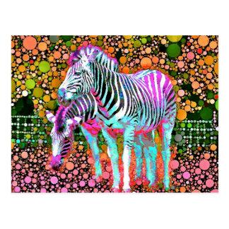 Zebra Pop Art Postcard