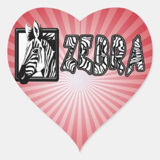 ZEBRA POP-OUT HEART STICKER