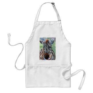 Zebra Portrait ACEO Apron
