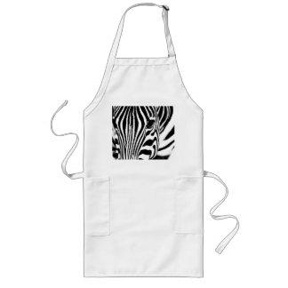 Zebra portrait black and white long apron