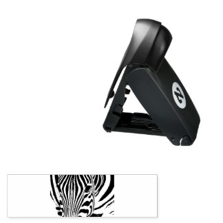 Zebra portrait black and white pocket stamp