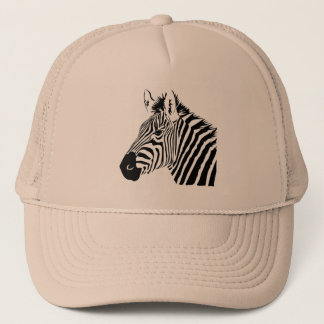 Zebra portrait safari cap