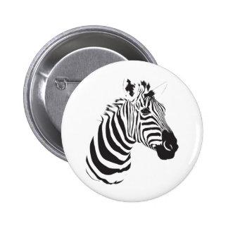 Zebra-print-001 Pinback Button