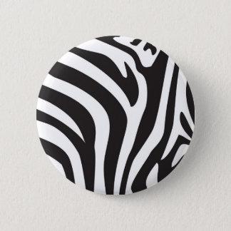 Zebra Print 6 Cm Round Badge
