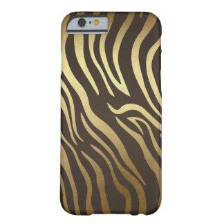 Zebra Print Animal Skin Print Modern Glam Gold Barely There iPhone 6 Case