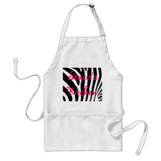 Zebra print apron with your name