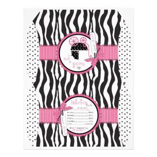 Zebra Print & Baby Carriage Favor Box 21.5 Cm X 28 Cm Flyer